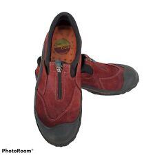 Clarks Waterproof Muckers Women's Size 6 Red Suede Rain Hiking Gardening Shoes