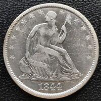 1844 O Seated Liberty Half Dollar 50c High Grade XF #7739