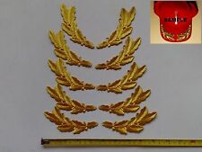 "5 Sets of Gold Metallic Leaf Army General Symbol Embroidered Patches 2.6""x6.5"""