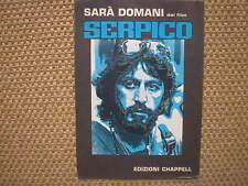 SERPICO AL PACINO SARA DOMANI VECCHIONI SPARTITO SHEET MUSIC ITALY 1974 OS FILM