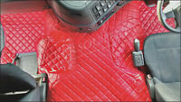 VOLVO FM FLOOR SET LEATHERETTE RED  [TRUCK PARTS & ACCESSORIES]