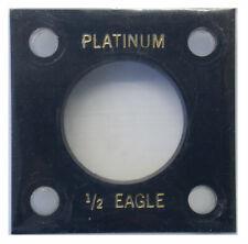 Capitol Plastics Platinum 1/2 Oz Eagle 27 mm Black 2X2 Acrylic Screw Type New