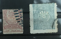 TURKEY: Early Used Stamps   1876 20 Paras and 1892 1P.