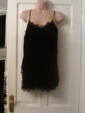 BLACK STRAPPY TOP BY RIVER ISLAND, SIZE 8