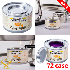 (72 Case) Ethanol Gel Chafing Fuel Catering Buffet Party Restaurant Chafing Dish
