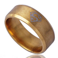 Men's Band Ring Size 9# B1386 Deluxe Yellow Gold Filled