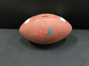 OFFICIAL MIAMI HURRICANES GAME USED 3005 NIKE COLLEGE LEATHER FOOTBALL