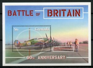 Grenada Stamps 2000 MNH WWII WW2 Battle of Britain Hawker Hurricane 1v S/S I