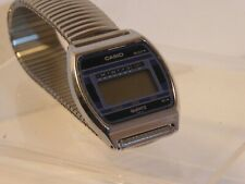 VINTAGE 1980s CASIO 244 / B820 DIGITAL WATCH with STAINLESS STEEL BAND, WORKING