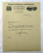 1918 ILLUSTRADED LETTERHEAD CHARLES BESLY CO RAILROAD SUPPLIES CHICAGO #C1