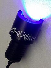 "BLUE BP LED 1"" RUBBER PLUG LIGHT 1000 LUMEN UNDERWATER BOAT DRAIN PLUG LED LIGHT"