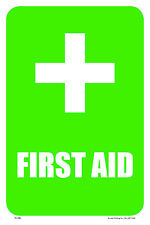 "FIRST AID 12""x18"" METAL/PVC SIGN"