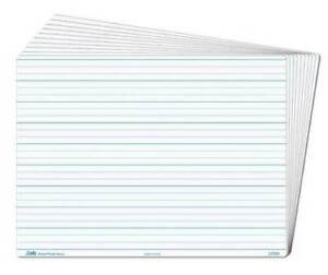 Whiteboard Dotted Thirds Write N Wipe A4 (5 Piece) Writing Teaching Resource