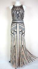 PHASE EIGHT BNWT 'Cygnus' Beige Sequin Bodycon Maxi Xmas Evening Dress Size 16