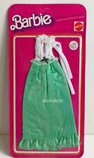 1975 Barbie Best Buy Fashions 9620 Mattel NRFP Long Dress Green White New 3356