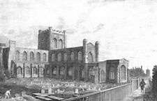 CHESHIRE. Chester Cathedral. Chatherall 1850 old antique vintage print picture