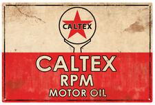 CALTEX RPM MOTOR OIL TIN SIGN 80x53cm  CALTEX PETROLEUM VINTAGE  TIN SIGN