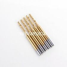 5x 1/8'' Titanium N2 Coated Carbide One Single Flute CNC Router Bit 2mm x 15mm