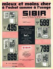 PUBLICITE ADVERTISING 125  1960  Metrop Sibir  réfrigérateurs