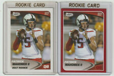 PATRICK MAHOMES II Texas Tech 2017 Sage Hit Rookie Card Lot BASE + RED SP RC