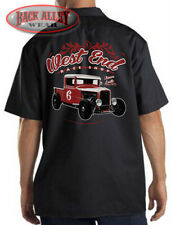 West End Race Shop Mechanics Work Shirt Biker ~ Custom Hot Rod Racing Garage