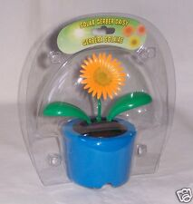 mini solar dancing flower NIB  daisy orange green