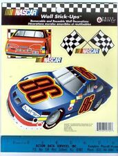 NASCAR RACE CARS wall stickers 3 big decals room decor finish flags #86