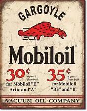 Mobil Oil USA Tankstellen Metall Vintage Werbung Plakat
