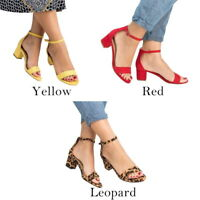 Ladies Fashion Women Block LowHigh Heels Chunky Sandals Open Toe Party Shoes HOT