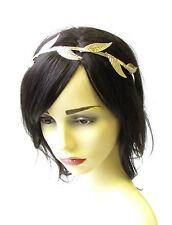 Gold Leaf Headband Headpiece Grecian Vine Hair Crown Laurel Roman Headdress 1980