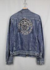 Vintage Versace Jeans Couture Big Medusa Logo Denim Jacket