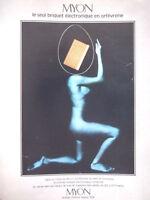 PUBLICITÉ DE PRESSE 1974 MYON LE SEUL BRIQUET ÉLECTRONIQUE EN ORFÈVRERIE - SEINS