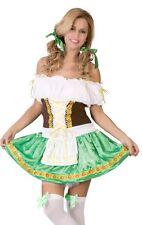 Ladies Sexy Oktoberfest German Beer Girl Gretal Fancy Dress Costume Outfit 12-14