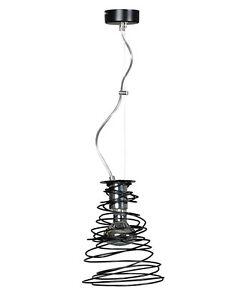 MODERN PENDANT 1 LIGHT CEILING BLACK WIRED LAMP - DINING KITCHEN LED LOFT TWIST