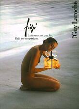Publicité ancienne Parfum Fidji Guy Laroche non parfumé
