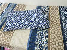 King Size Duvet Cover + 2 Pillowcases Moroccan Style Blue tile Reversible Set g