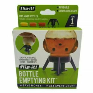Flip It Reusable Bottle Emptying Kit - Single Pack Purple NEW