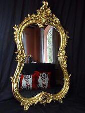 GRANDE Antico Luigi XVI Francese Stile piegata Acanto Pier Specchio Parete in Vetro dorati
