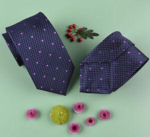 "Purple Alligator Skin Patterned 3"" Tie Violet Polka Dot Matching Shirt Necktie"