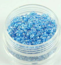 Diy 500Pcs2Mm Azure Ab Czech Glass Spacer Loose Beads Bracelet Jewelry Findings