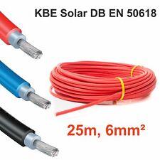 "Solarkabel, 1 x 25m, 6mm² ROT, neueste Norm ""EN 50618"", KBE, Deutschland"