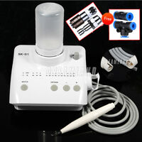 Dental Portable Ultrasonic Piezo Scaler Cleaner fit DTE SATELEC tips +Free gifts