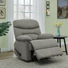Gray Chenille Wall Hugger Armchair Recliner Recliners Arm Chair Chairs Grey New