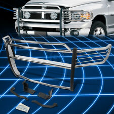 Chrome Brush Bumper Protector Grille Guard for 2002-2005 Dodge Ram Pickup Truck
