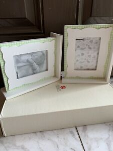 Green and White Gingham American Greetings Picture Frames.