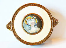 Antique Large Dresser Jar Marie Antoinette European Jewelry Vanity Boudoir Paris