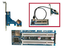 Convertisseur Adaptateur DOUBLE PCI vers PCI Express PCIE - 5V et 3.3V