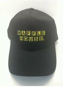 WAFFLE HOUSE Employee Uniform Black And Yellow Ball Cap / Hat NEW