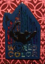 Disney 2017 World Of Color Mickey Mouse Silhoutte Stain Glass Brush Pin