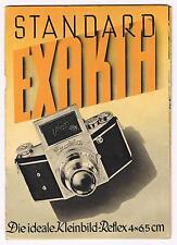 1938 Ihagee VP Exakta Standard - original folder in very good condition
